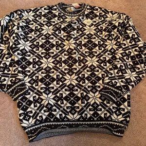 Domani men m vintage oversize sweater Christmas
